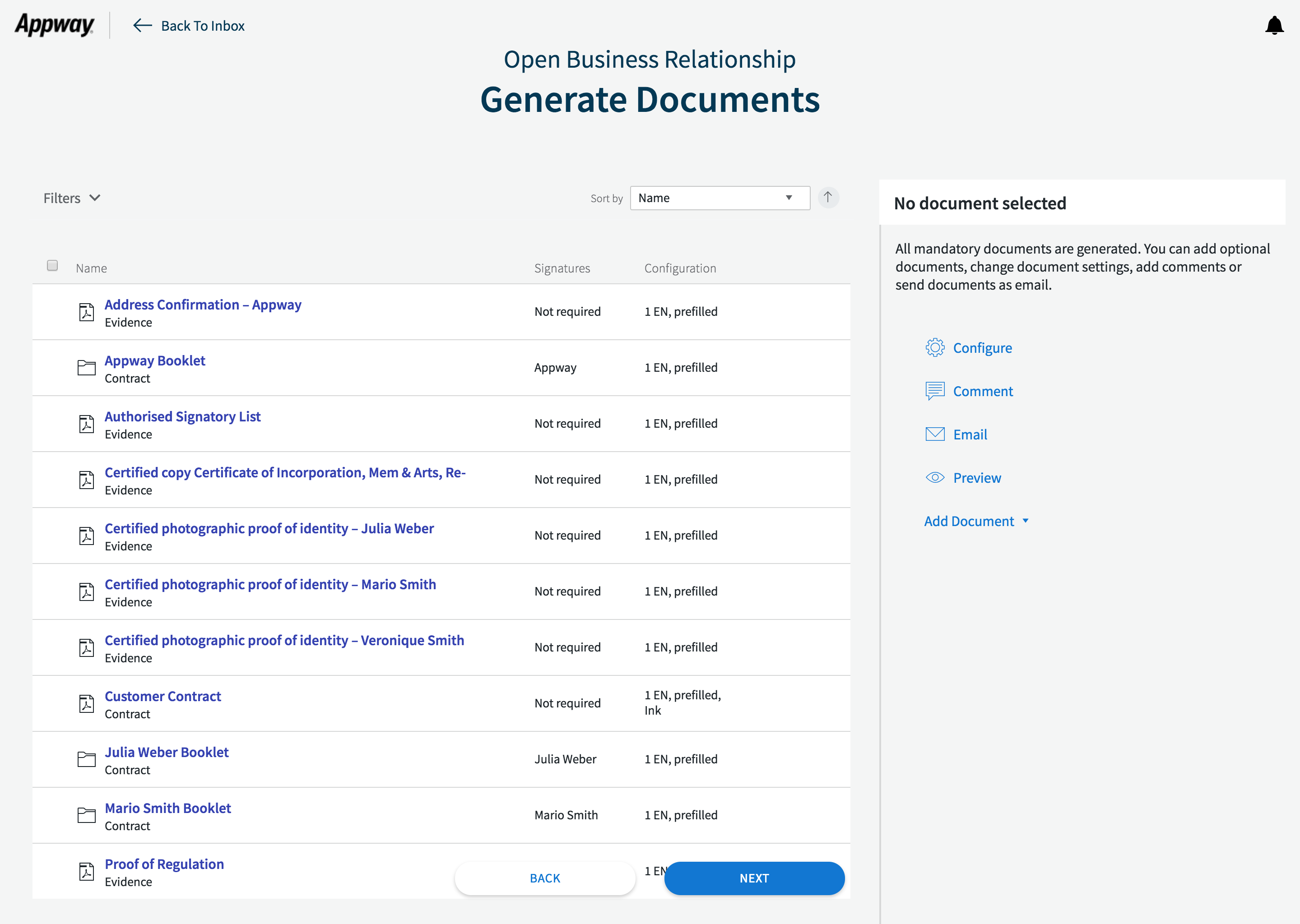 Business Component: Document Generator - Appway Community